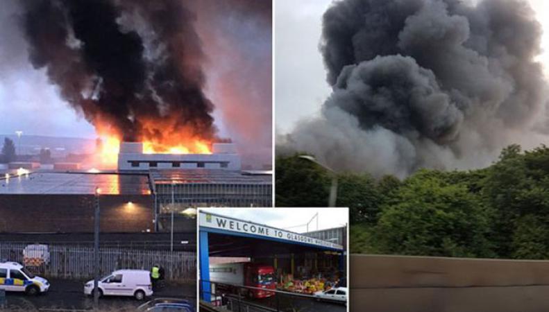 Крупный пожар в Глазго