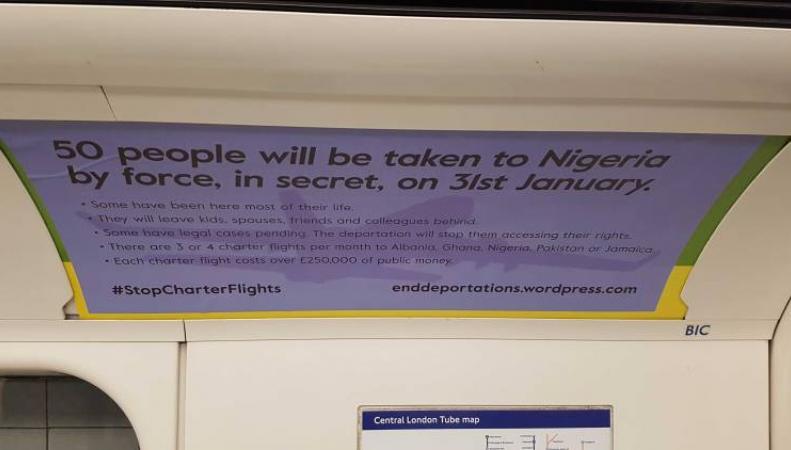 Правозащитники незаконно захватили рекламные площади в вагонах лондонского метро