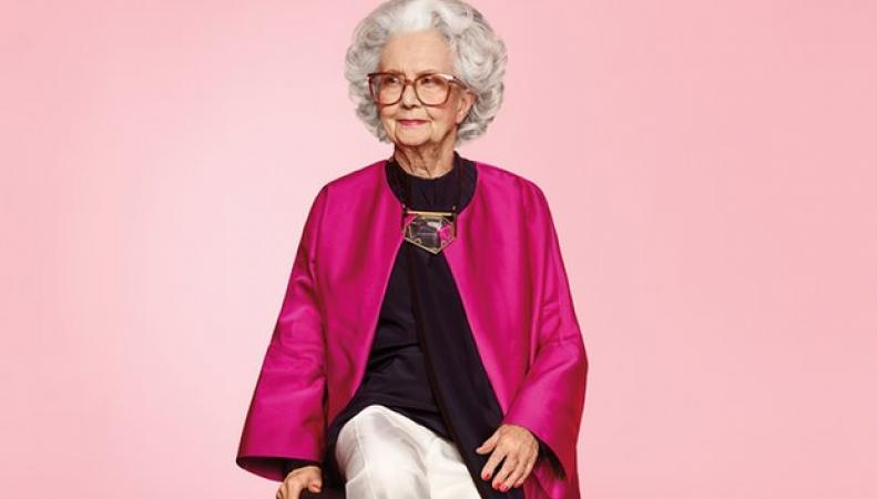 Harvey Nichols пригласил для съемок рекламы столетнюю модель фото:theguardian.com