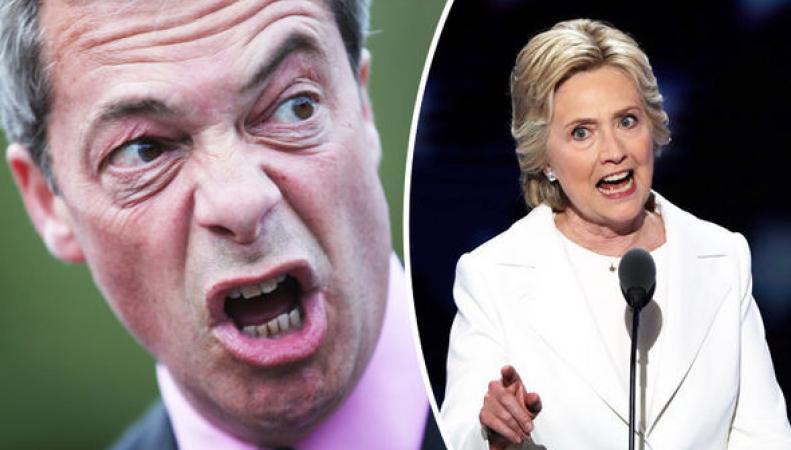 Фараж не стал бы голосовать за Клинтон «ни за какие деньги» фото:express.co.uk