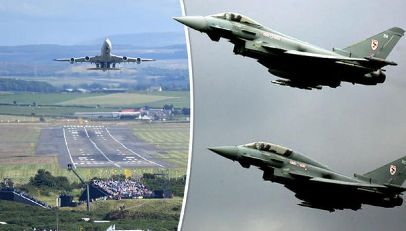 Пассажирский самолет не вышел на связь над Шотландией