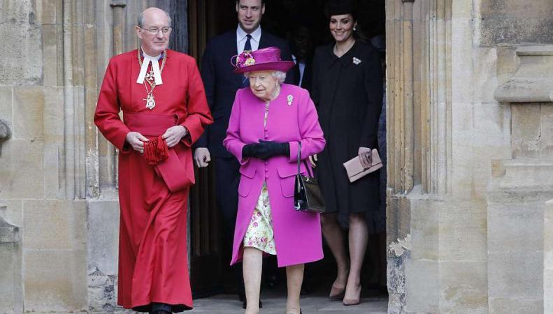 Королевская семья отметила Пасхальное воскресенье в Виндзоре