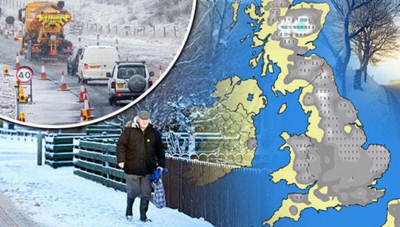 В воскресенье вся Великобритания будет засыпана снегом