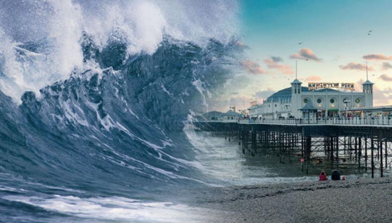Инфраструктуре прибрежных районов Великобритании могут угрожать цунами фото:dailyexpress