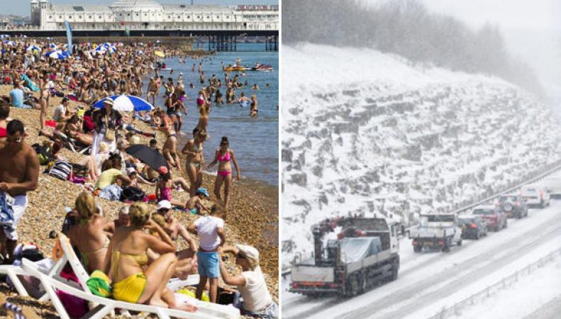 Лето после снега: когда потеплеет в Великобритании