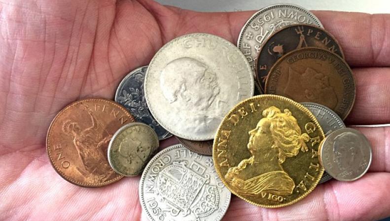 Самая дорогая монета Британии нашлась в сундучке детских сокровищ фото:dailymail.co.uk