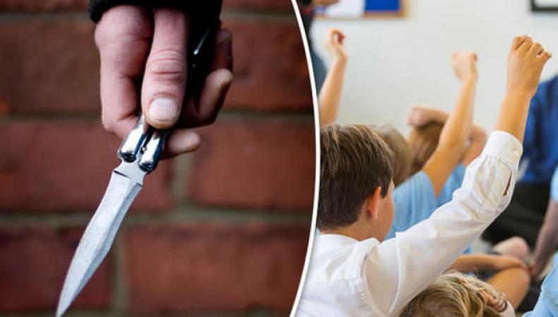 Британские дети приходят в школу с оружием