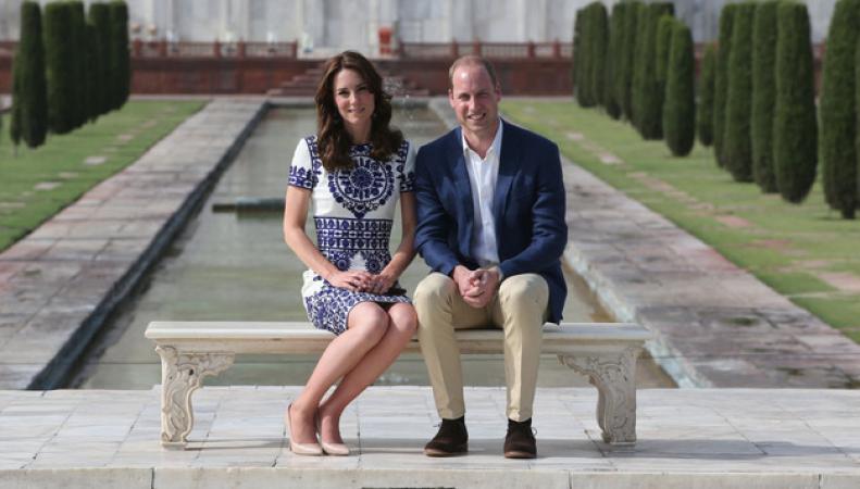 Уильям и Кейт возле Тадж-Махала