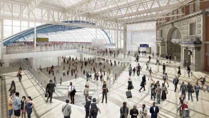 На вокзале Ватерлоо увеличат число и длину платформ