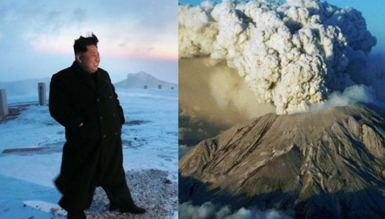 Ким Чен Ын и вулкан