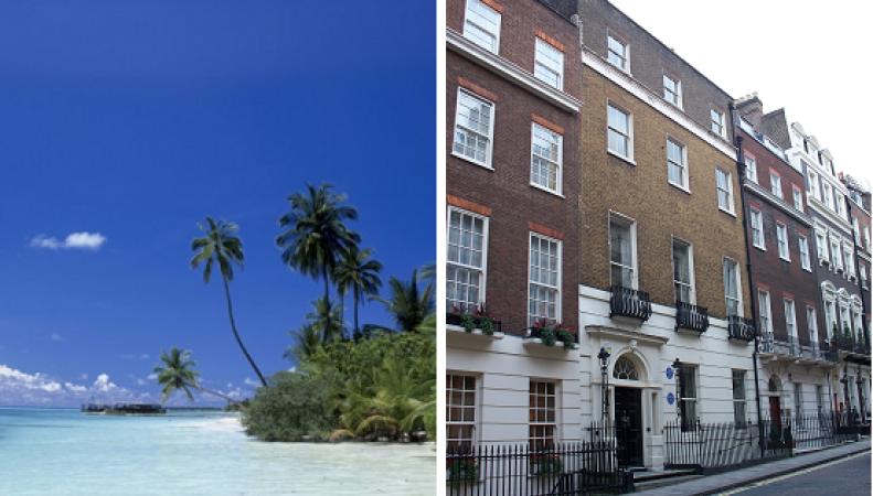 Средний лондонский дом дороже частного острова в тропиках