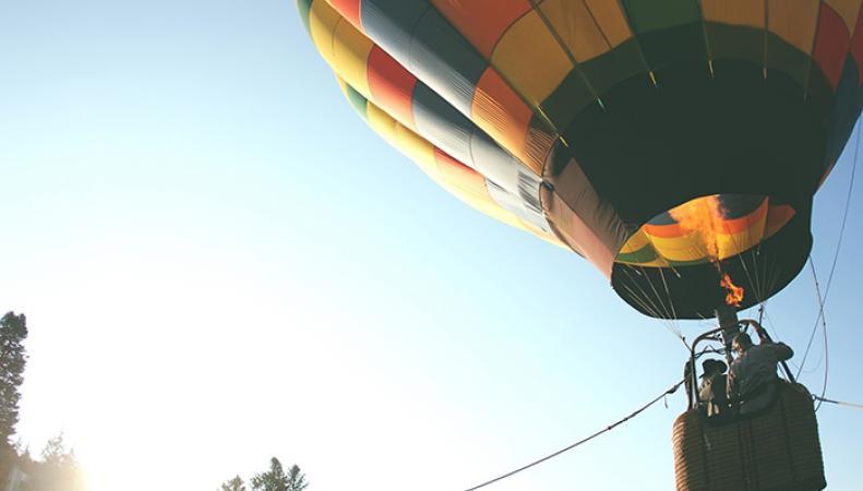 воздушный шар столкнулся с ЛЭП
