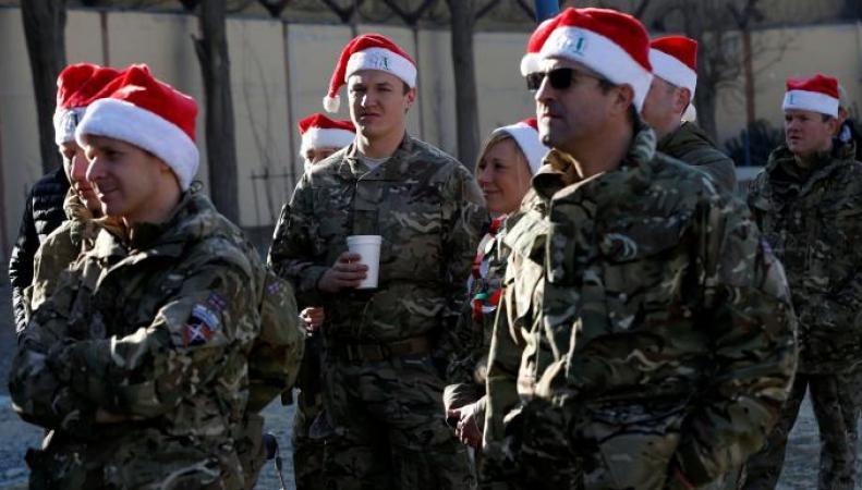 Британский контингент в Афганистане остался без подарков на Рождество