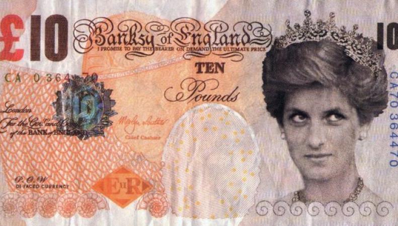 Бэнкси подарил Британскому Музею «десятифунтовую Диану»