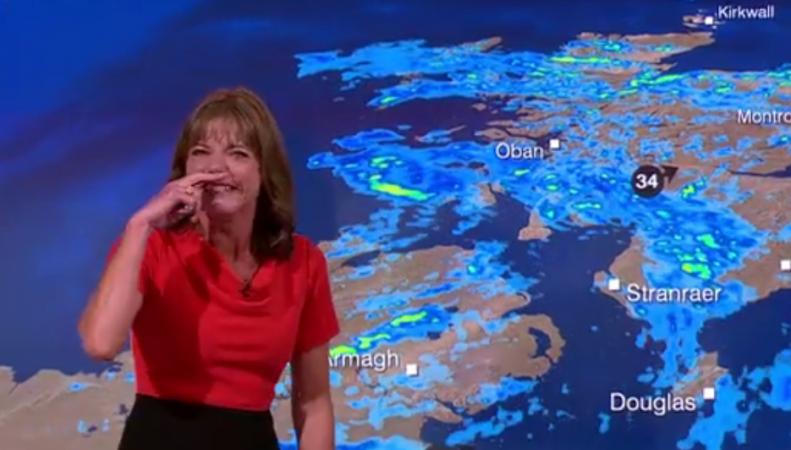 Ведущая Би-Би-Си сорвала прогноз погоды приступом неудержимого смеха фото:bbc.com