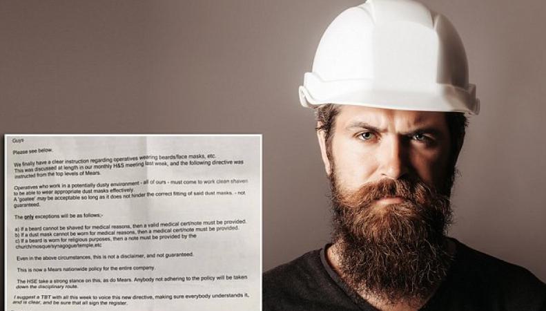 Британская строительная компания запретила рабочим отращивать бороды фото:longroom
