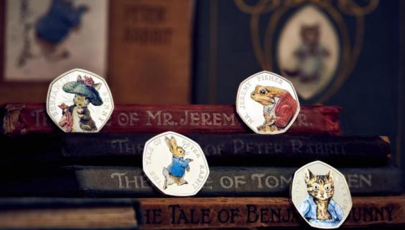 Royal Mint показал новые монеты с персонажами книг Беатрис Поттер фото:standard.co.uk