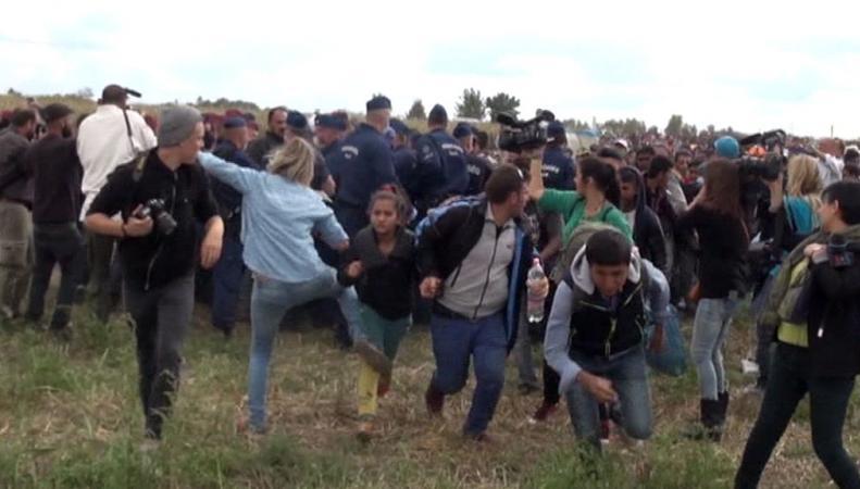Беженцы подрались с немцами
