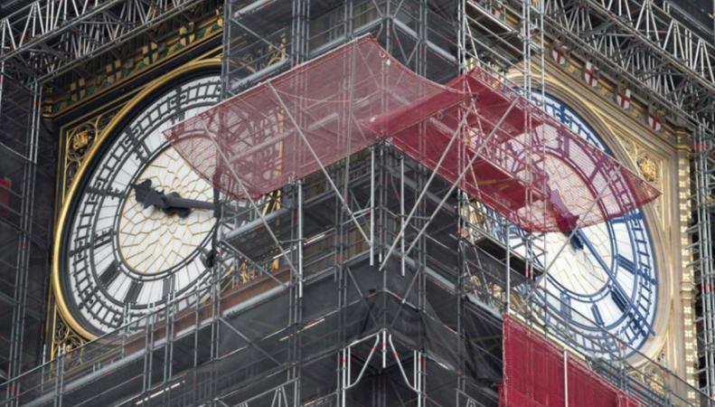 Циферблаты Елизаветинской башни поменяли цвет