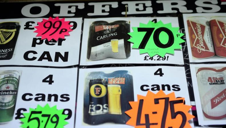 Алкоголь низшего ценового сегмента в Шотландии подорожает на треть