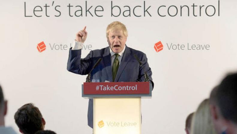 """Джонсон спел """"Оду к Радости"""" по-немецки на съезде сторонников Brexit фото:metro.co.uk"""