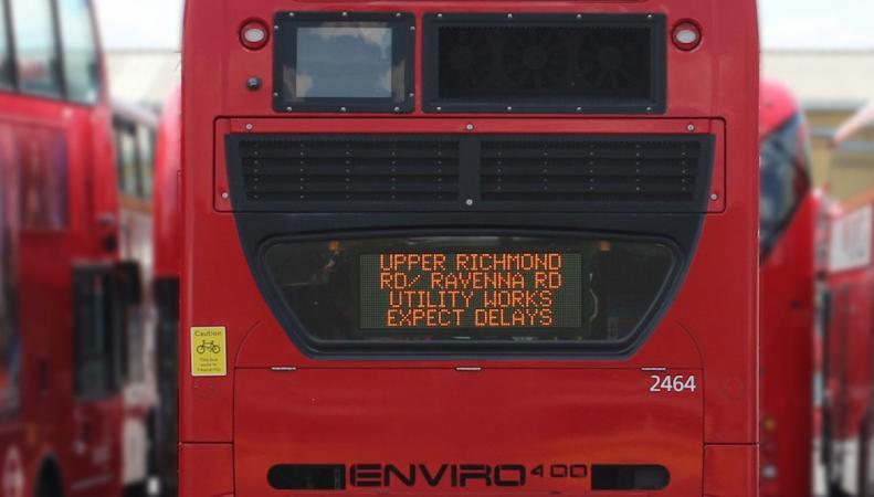 Лондонские даблдекеры будут оповещать автомобилистов о пробках на дорогах фото:mayorwatch.co.uk