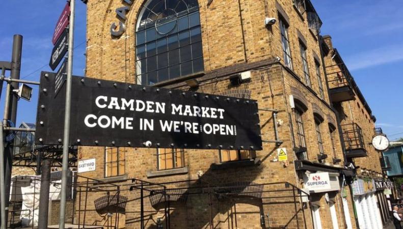 Пожар на рынке Кэмден-Лок нанес тяжелый удар по лондонскому малому бизнесу фото:bbc