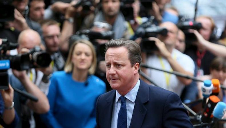 Кэмерон в последний раз выступил на Европейском Совете в Брюсселе фото:theguardian.com