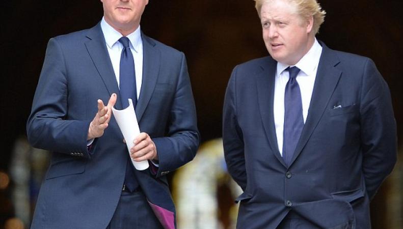 Дружба Кэмерона и Джонсона разбилась о Brexit фото:dailymail.co.uk
