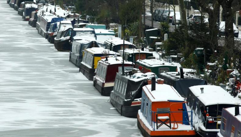 В Лондоне замерзли каналы