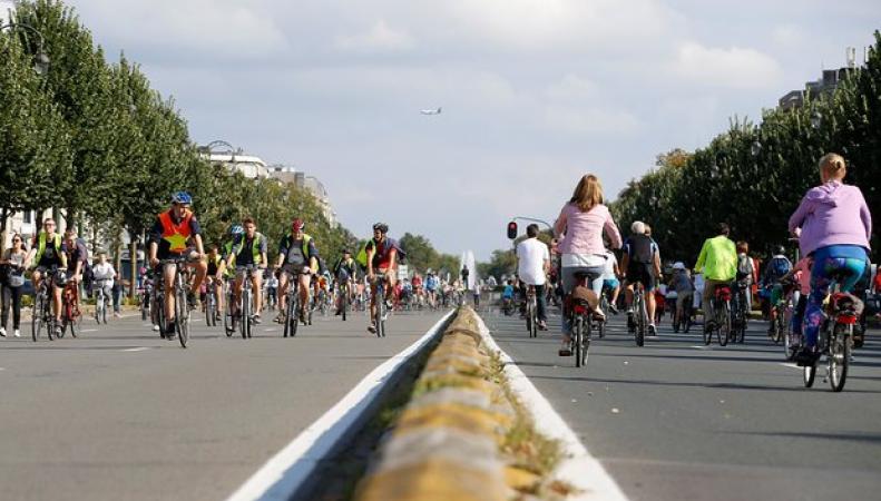 Последует ли Лондон парижскому примеру Дня без автомобилей? фото:theguardian.com