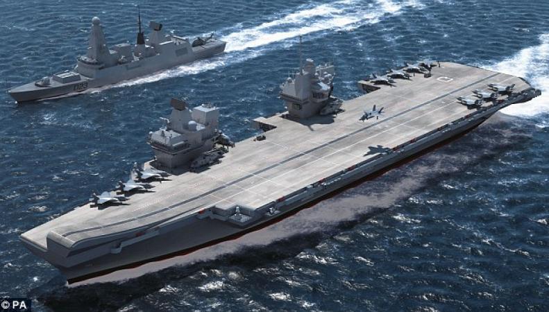 Авианосцы британского флота могут остаться обесточенными из-за дефицита бюджета фото:dailymail.co.uk