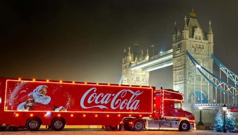 рождественский грузовик Coca-Cola