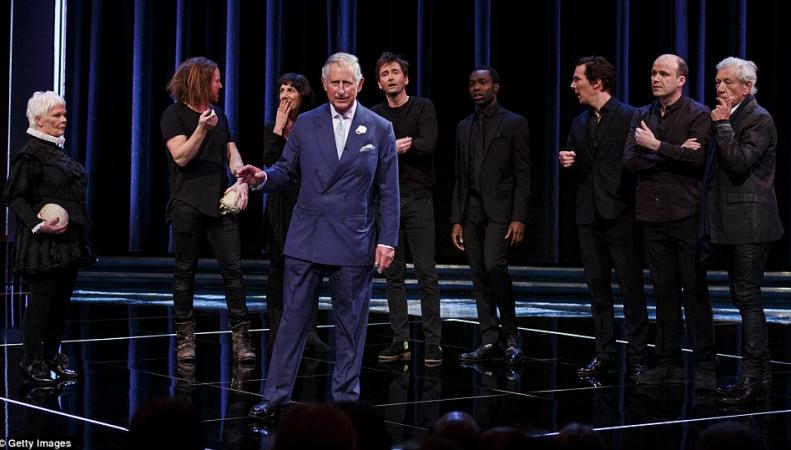 принц Чарльз на сцене