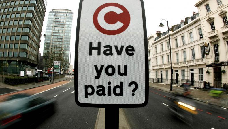 В Лондоне увеличится штраф за неуплату «налога на пробки»