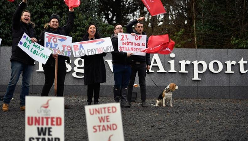 Летные экипажи British Airways объявили двухнедельную забастовку фото:theguardian