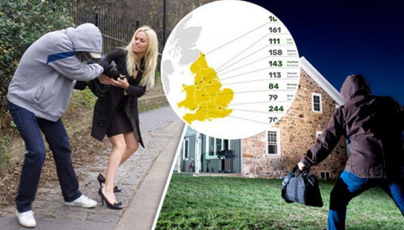 Список британских улиц с наибольшей криминогенной обстановкой