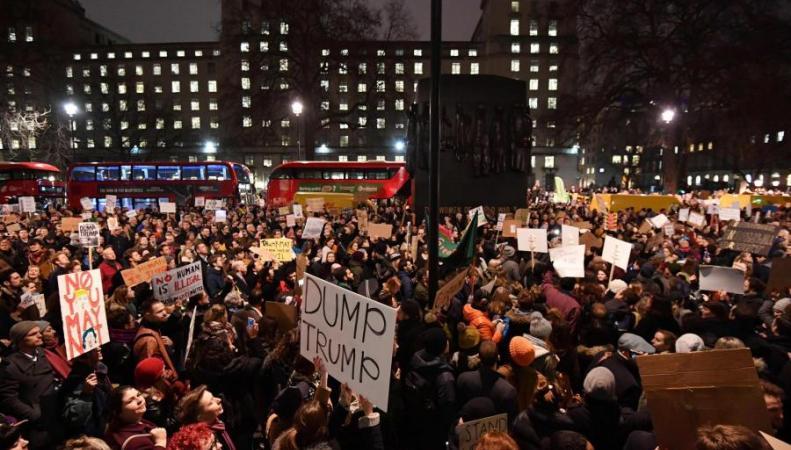 В Лондоне готовится крупнейшая демонстрация протеста против визита Дональда Трампа