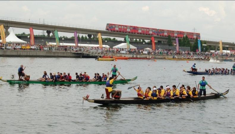 Фестиваль лодок-драконов пройдет в июне в Лондоне фото:londonist.com