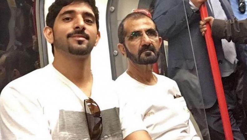 Шейх и кронпринц Дубая прокатились в лондонском метро фото:independent.co.uk