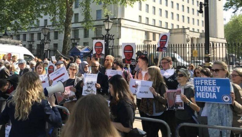Приезд Эрдогана в Лондон спровоцировал акцию протеста и беспорядки