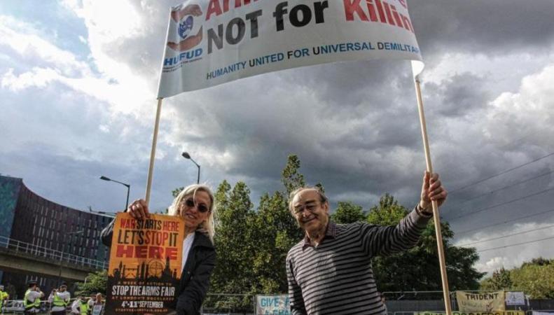 Антимилитаристская акция протеста состоялась на Даунинг-стрит фото:standard.co.uk