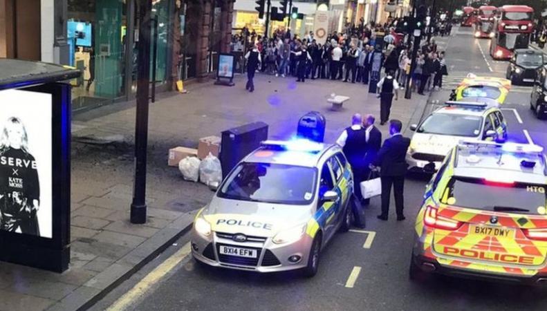 Участок Оксфорд-стрит был перекрыт из-за взрыва фото:bbc