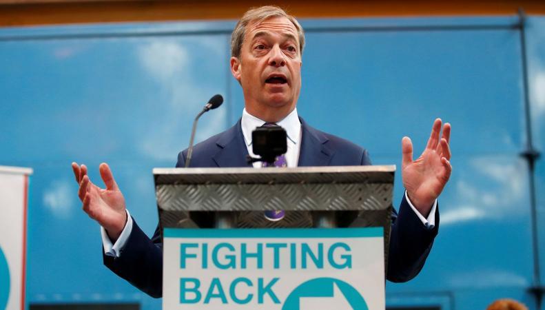Найджел Фараж может выиграть выборы в Европарламент