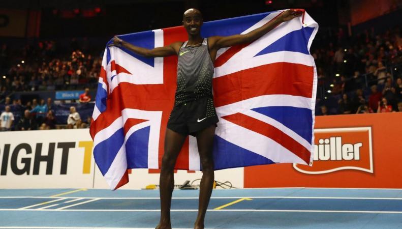 Мохаммед Фарах  побил собственный европейский рекорд на крытом треке фото:standard.co.uk
