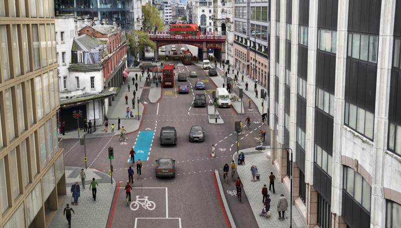 Садик Хан утвердил прокладку нового велосипедного супер-шоссе фото:standard.co.uk