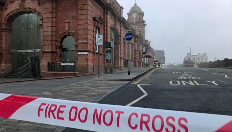 Пожар на вокзале в Ноттингеме сбил расписание сотен поездов
