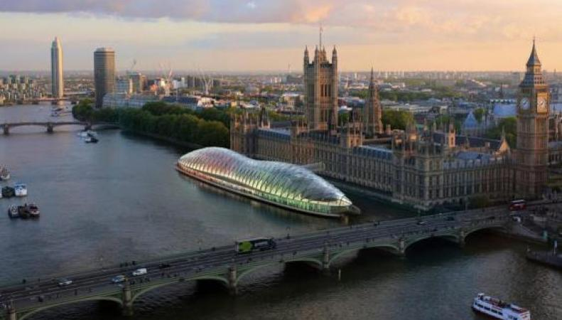 Депутатов Парламента могут переселить на плавучую платформу на Темзе фото:standard.co.uk