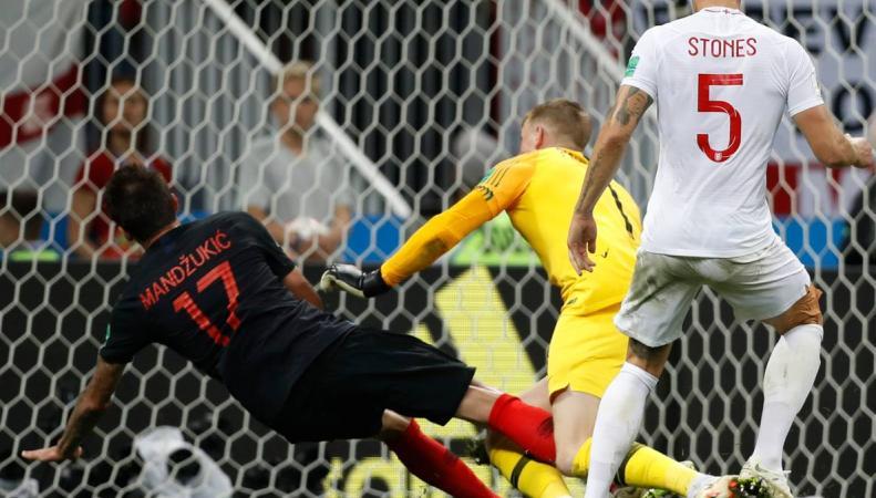 Сборная Англии проиграла в овертайме полуфинала