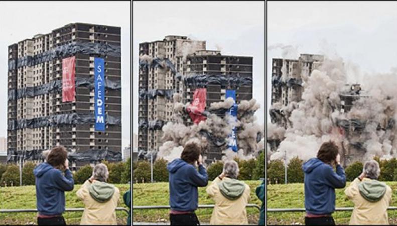 В Глазго взорван многоквартирный дом фото:bbc.com